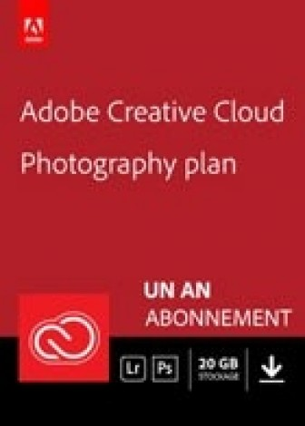 Adobe Creative Cloud Photographie - 20 Go - 1 an