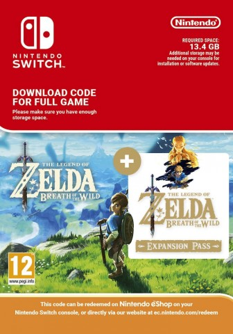 The Legend of Zelda: Breath of the Wild et Pass d'extension - eShop Code Bundle