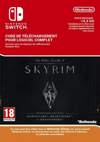 The Elder Scrolls V: Skyrim - Switch eShop Code