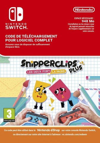 Snipperclips Plus Pack - Cut it out, together! - eShop Code