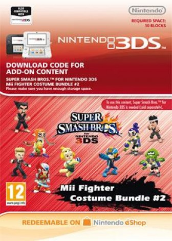 Super Smash Bros. for 3DS -  Pack de costumes pour combattant Mii #2 - eShop Code