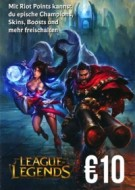 League of Legends Gift Card 10 Euro
